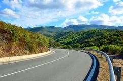 Mountain road. Fragment of the mountain road. Sardinia. Italy Royalty Free Stock Photography