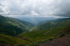 Mountain road in Georgia Royalty Free Stock Photo