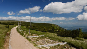Mountain road. In the Giant Mountains Royalty Free Stock Photography
