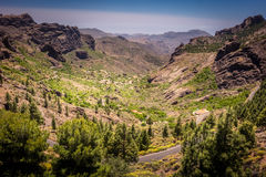 Mountain road in Gran Canaria Royalty Free Stock Photos