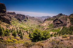 Mountain road in Gran Canaria Royalty Free Stock Photography