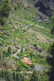 Mountain road in Gran Canaria Stock Images