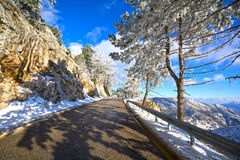 Mountain road in Greece Stock Image