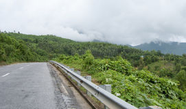 Mountain road on Hai Van pass in Hue Stock Photos