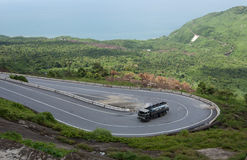Mountain road on Hai Van pass in Hue Royalty Free Stock Photography