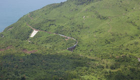 Mountain road on Hai Van pass in Hue Stock Photography