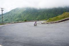 Mountain road on Hai Van pass in Hue Stock Photo