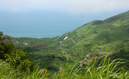 Mountain road on Hai Van pass in Hue Stock Images