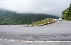 Mountain road on Hai Van pass in Hue Stock Image