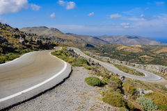 Mountain road with hairpin bends Royalty Free Stock Photos
