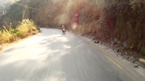 Mountain road in the Himalayas stock footage