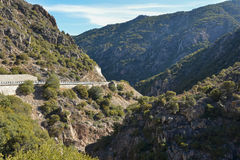 Mountain road on the island of Sardinia Royalty Free Stock Photo