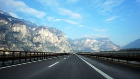 Mountain road. Italy Stock Image