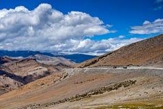 Mountain road in Ladakh Royalty Free Stock Photo