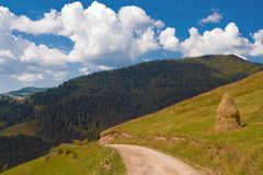 Mountain road landscape Stock Photos
