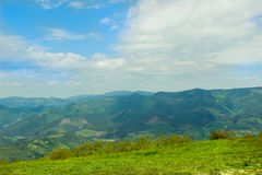 Mountain road landscape in summer Stock Images