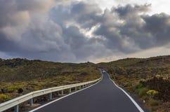 Mountain road through Lanzarote royalty free stock photography