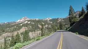 Mountain Road Through Lassen. Volcanic National Park stock video footage