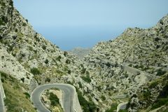 Mountain road - Mallorca Stock Images