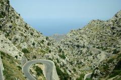 Mountain road - Mallorca. Winding road through majorca mountain Stock Images