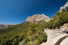 Mountain road in Mallorca Stock Photos