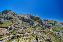 Mountain road on Mallorca. Spain Stock Photos