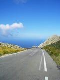 Mountain road on mallorca Royalty Free Stock Photos