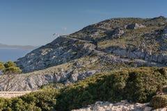 Mountain road in Mallorca, Spain. Stock Photography