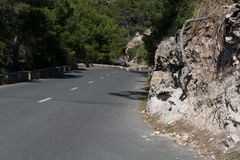 Mountain road in Mallorca, Spain. Royalty Free Stock Image