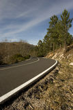 Mountain road with many curves Royalty Free Stock Photos