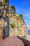 Mountain road in Monaco and Monte Carlo principality Royalty Free Stock Photo