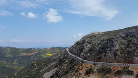 Mountain road. Road in the mountains of Crete Royalty Free Stock Images