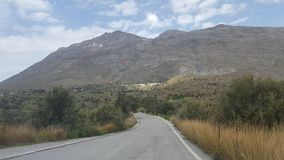 Mountain road. Road in the mountains of Crete Royalty Free Stock Image