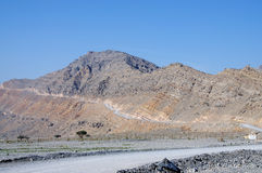 Mountain road in oman Royalty Free Stock Photo