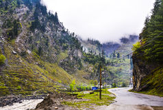 Mountain road in Naran Kaghan valley, Pakistan Stock Images