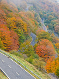 Mountain road in the natural park of Urbasa-Andia Stock Photo