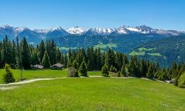Mountain road nature panoramic landscape. Ridanna Valley, South Tyrol, Trentino Alto Adige, Italy. Mountain road nature panoramic landscape. Ridanna Valley stock photos