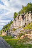 Mountain road near cliff Royalty Free Stock Photo