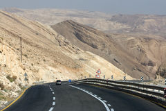 Mountain road in The Negev Desert Royalty Free Stock Photo