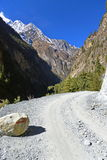 Mountain Road in Nepal Stock Photo