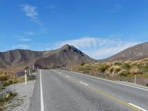 Mountain road, New Zealand Royalty Free Stock Photos