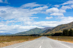 Mountain road. New Zealand Stock Photography