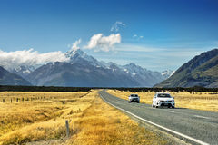 Mountain Road, New Zealand Stock Images