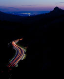 Mountain road at night Royalty Free Stock Images