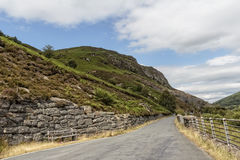 Mountain Road, North Wales. An image of a mountain road near the Dams in North Wales Royalty Free Stock Image