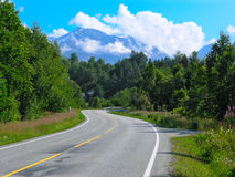 Mountain road in Norway Stock Photography