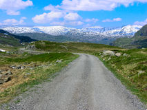 Mountain road in Norway Stock Photo