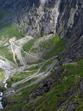 Mountain road in Norway. Trollstigen - a famous mountain road in Norway royalty free stock photos