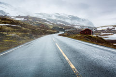 Mountain road in Norway. Stock Photo