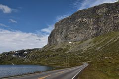 Mountain Road in Norway Stock Image